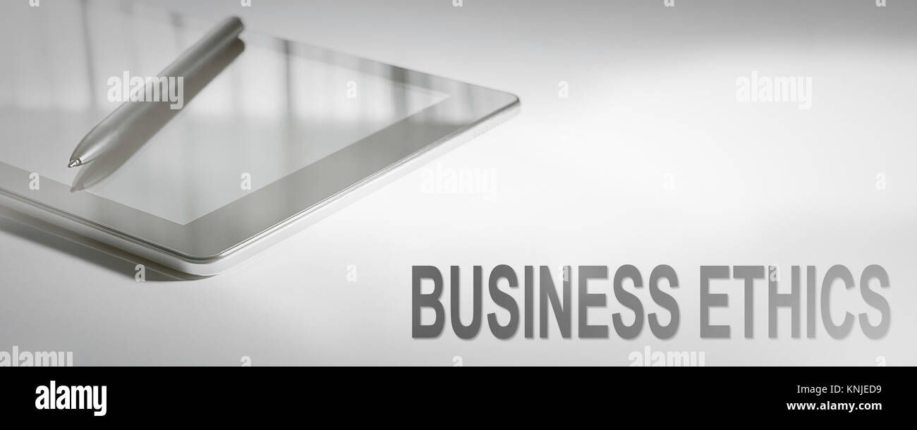 BUSINESS ETHICS Business Concept Digital Technology. Graphic Concept. - Stock Image
