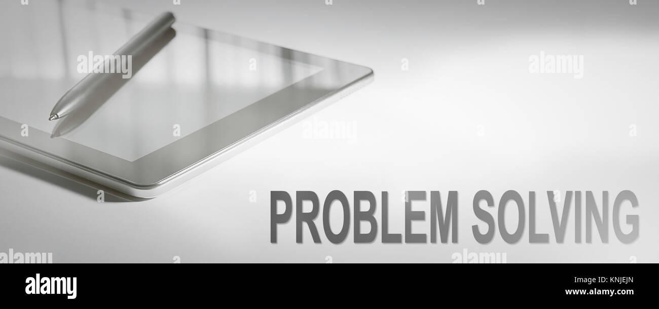 PROBLEM SOLVING Business Concept Digital Technology. Graphic Concept. - Stock Image