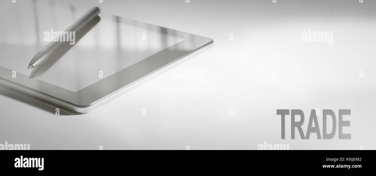 TRADE Business Concept Digital Technology. Graphic Concept. - Stock Image