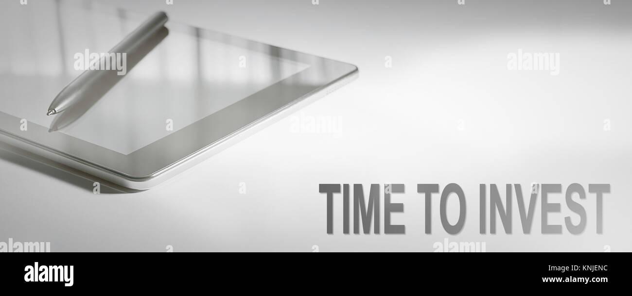 TIME TO INVEST Business Concept Digital Technology. Graphic Concept. - Stock Image