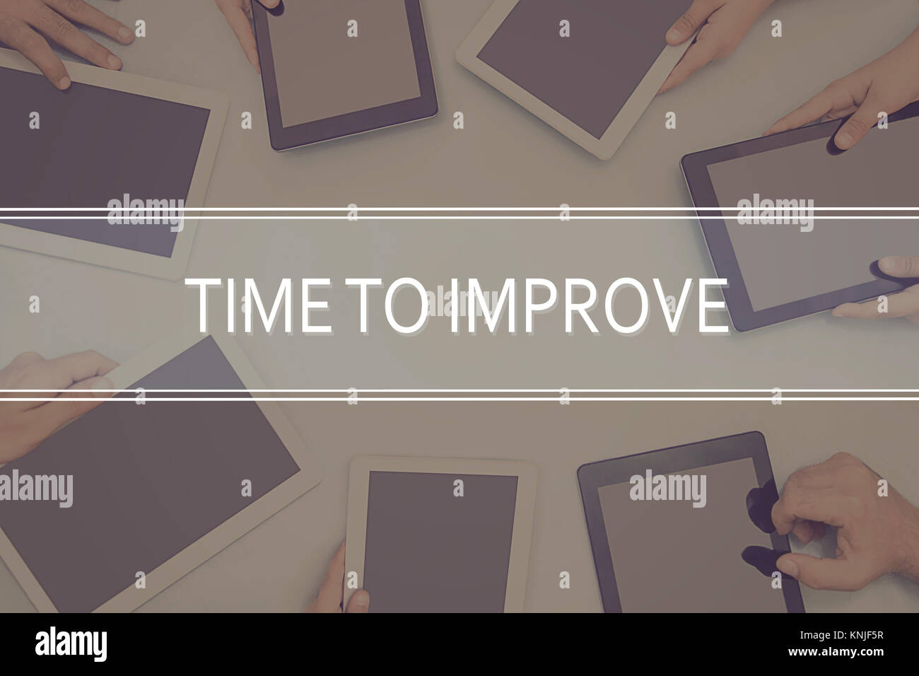 TIME TO IMPROVE CONCEPT Business Concept. - Stock Image