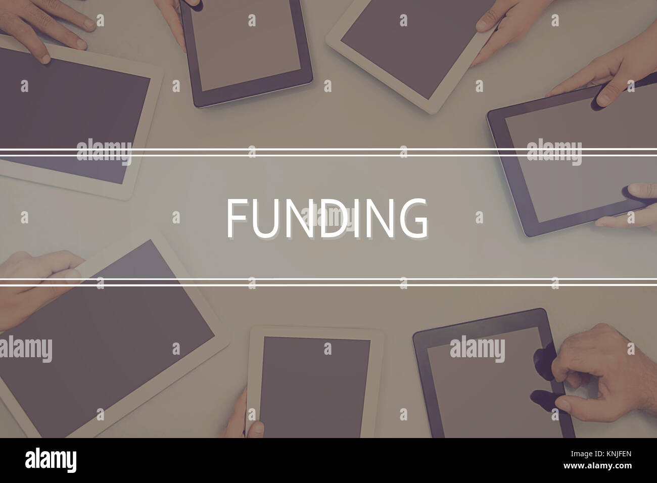 FUNDING CONCEPT Business Concept. - Stock Image