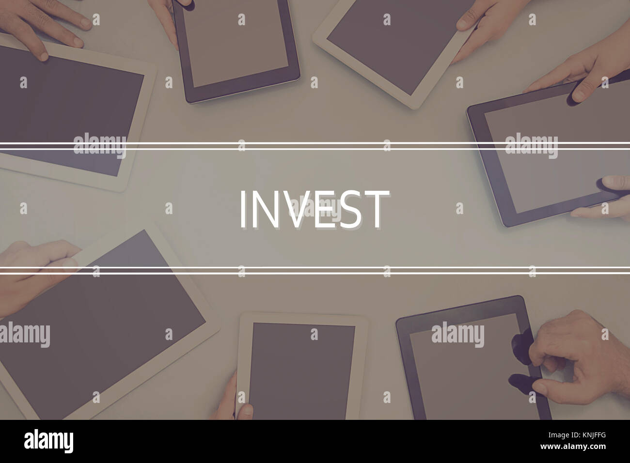 INVEST CONCEPT Business Concept. - Stock Image
