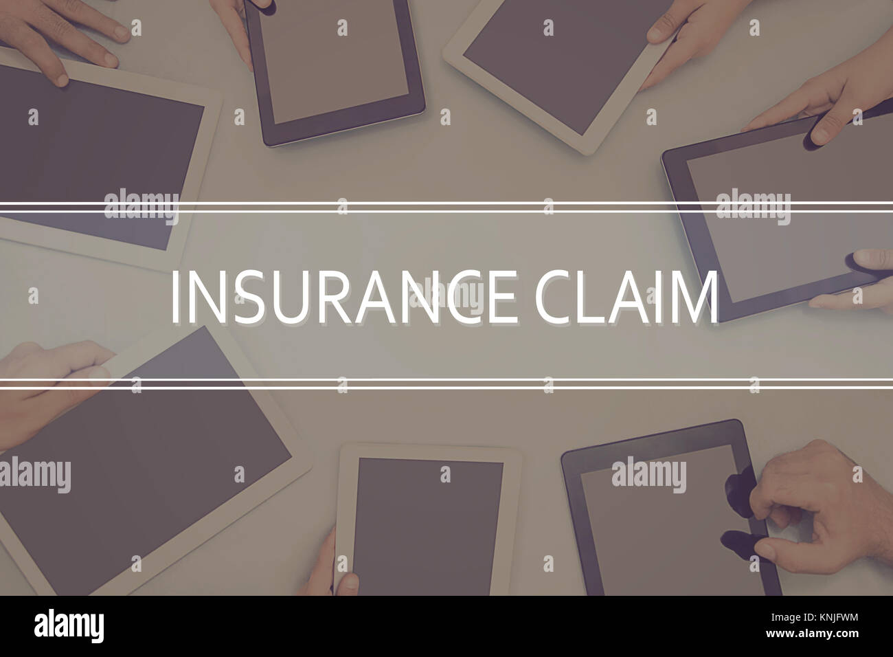 INSURANCE CLAIM CONCEPT Business Concept. - Stock Image