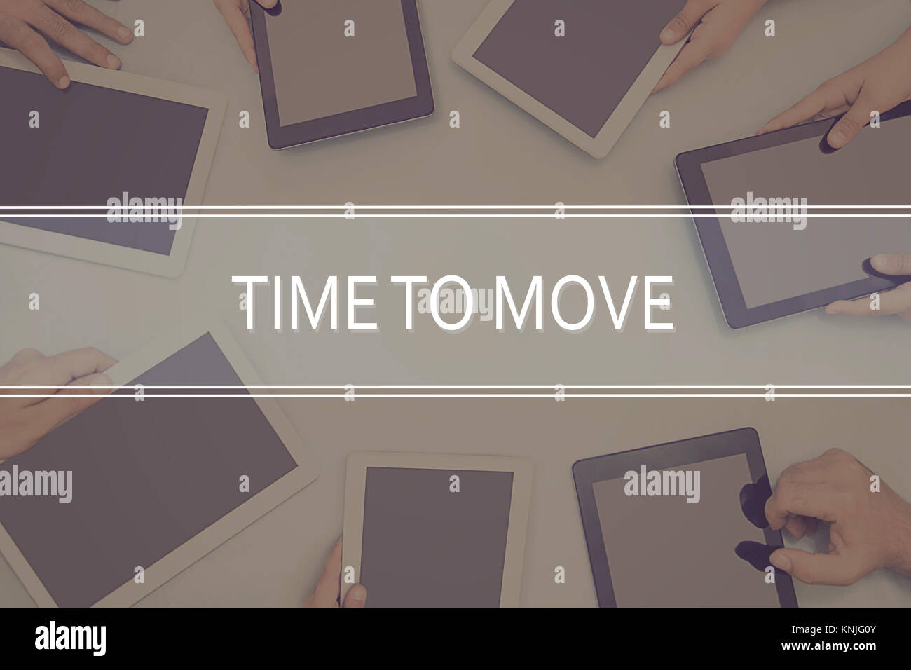 TIME TO MOVE CONCEPT Business Concept. - Stock Image