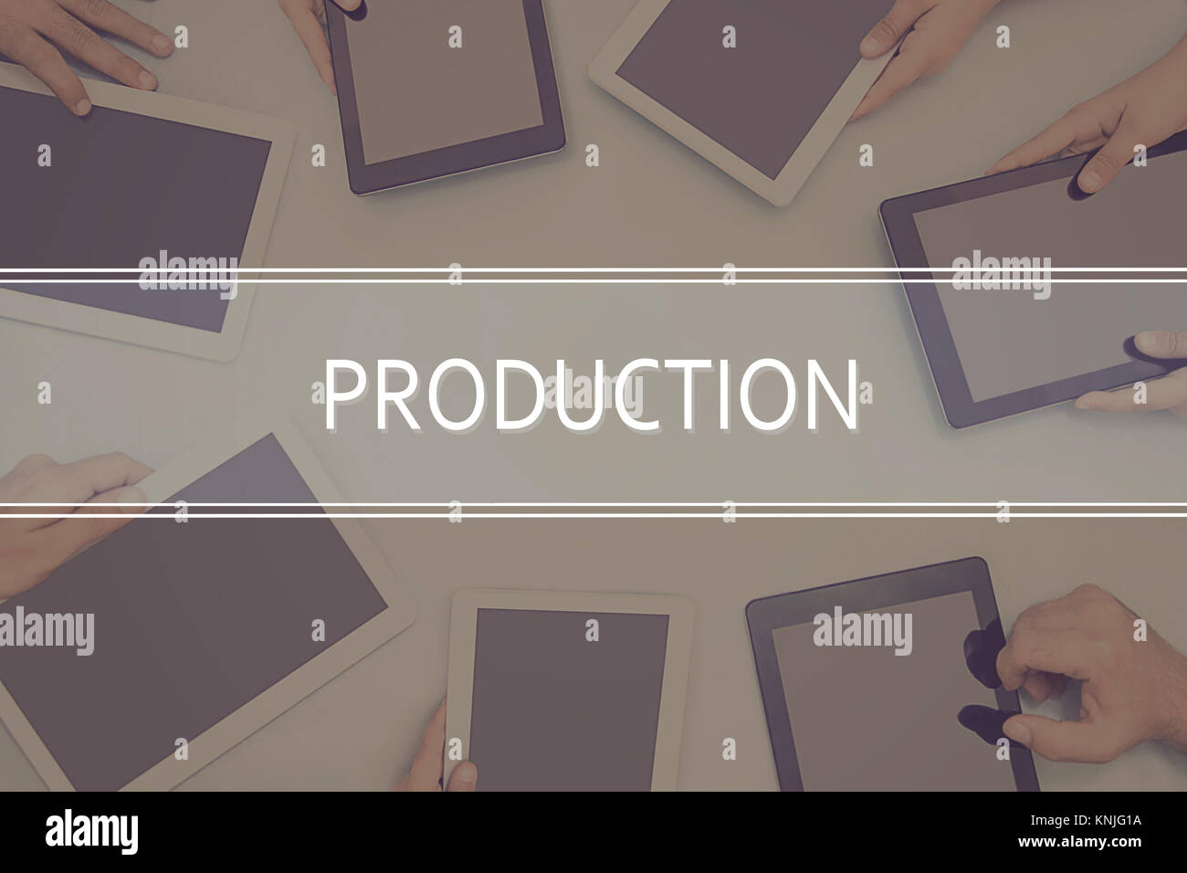 PRODUCTION CONCEPT  Business Concept. - Stock Image