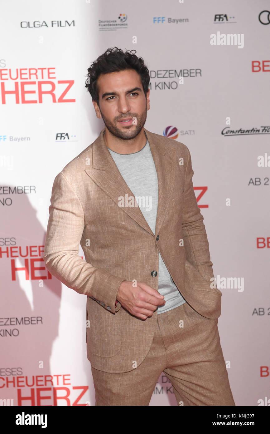 "Munich, Germany. 11th Dec, 2017. Actor Elyas M'Barek arriving to the wold premiere of ""Dieses bescheuerte Herz"" Stock Photo"