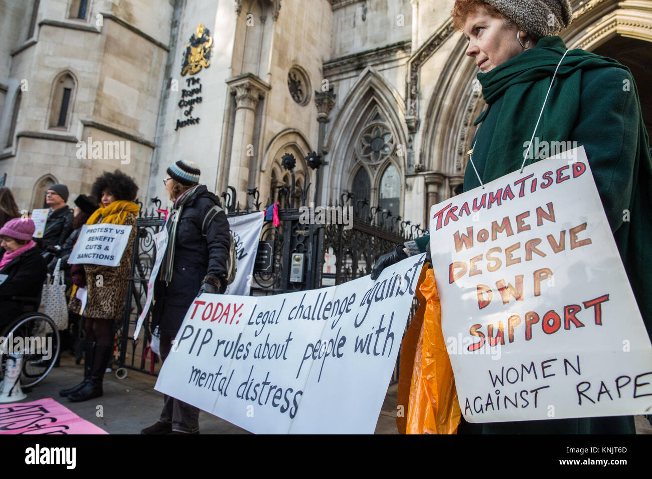 London, UK. 12th Dec, 2017. Campaigners from Disabled People Against Cuts (DPAC), Mental Health Resistance Network Stock Photo