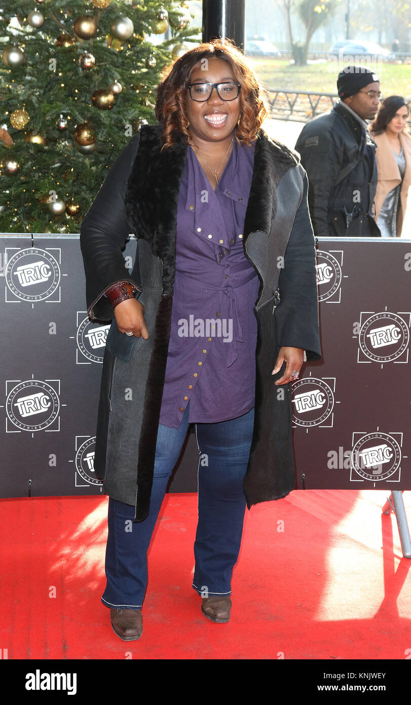 London, UK. 12th Dec, 2017. Chizzy Akudolu, TRIC - The Television And Radio Industries Club - Christmas Lunch, Grosvenor Stock Photo