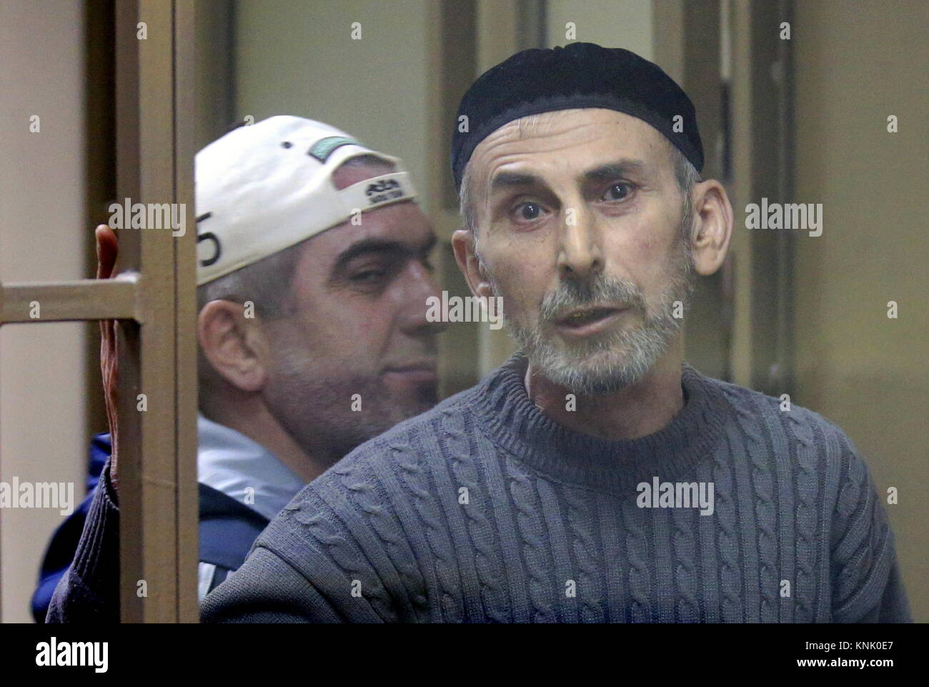 Rostov On Don, Russia. 13th Dec, 2017. Ramzan Belyalov (front) and Magomed Mazdayev, charged with taking part in - Stock Image