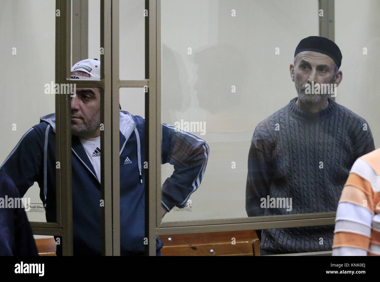 Rostov On Don, Russia. 13th Dec, 2017. Magomed Mazdayev (L) and Ramzan Belyalov, charged with taking part in a June - Stock Image