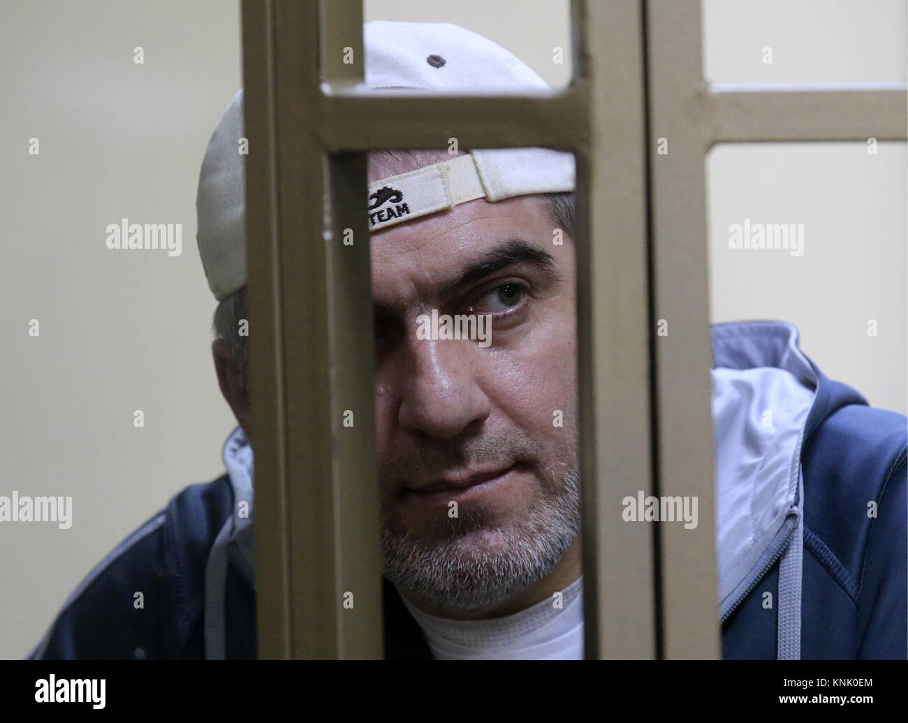 Rostov On Don, Russia. 13th Dec, 2017. Magomed Mazdayev, charged with taking part in a June 1995 attack by armed - Stock Image