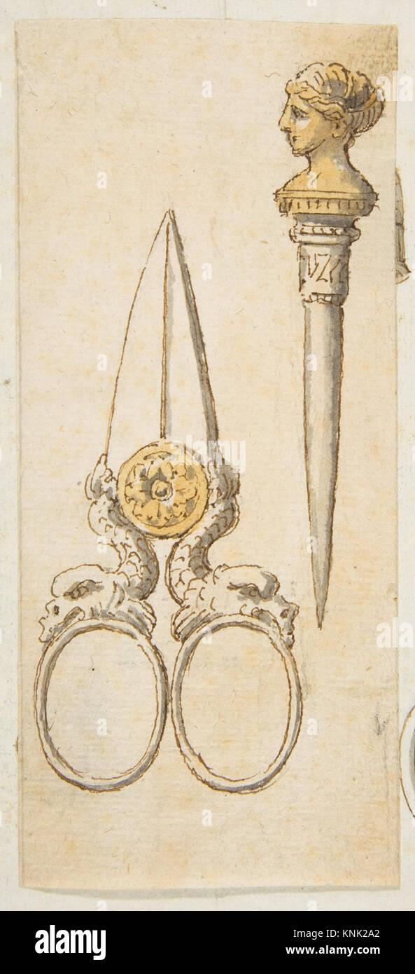 Designs for Scissors and Letter Opener MET DP812290 392355 - Stock Image