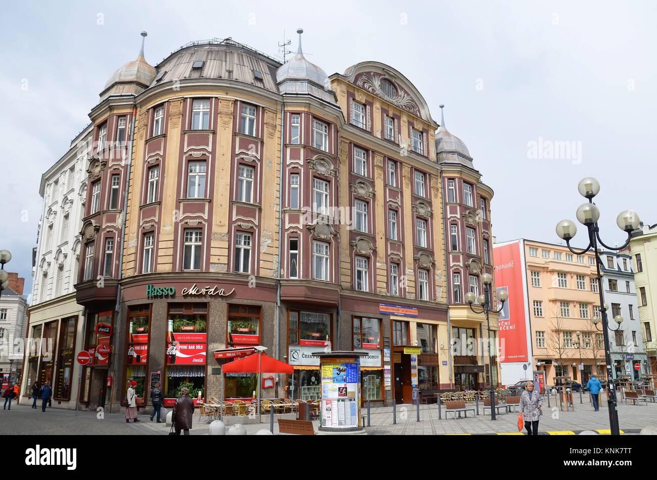 Ostrava (Moravia, Czech Republic: Architecture in the center - Stock Image