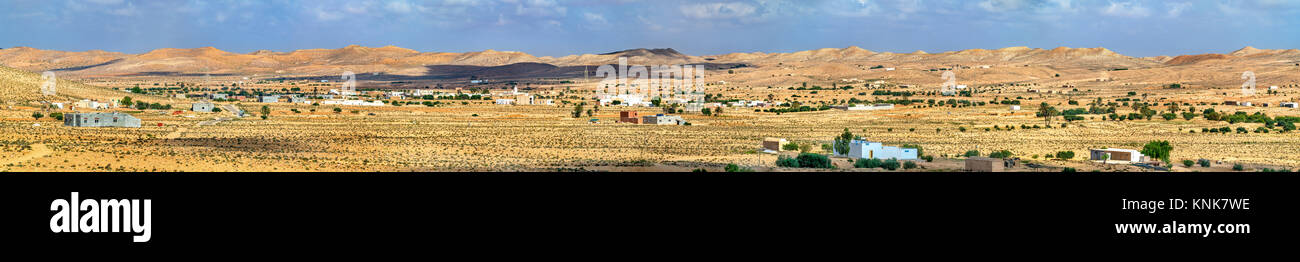 Typical Tunisian landscape at Ksour Jlidet in Tataouine Governorate. North Africa Stock Photo