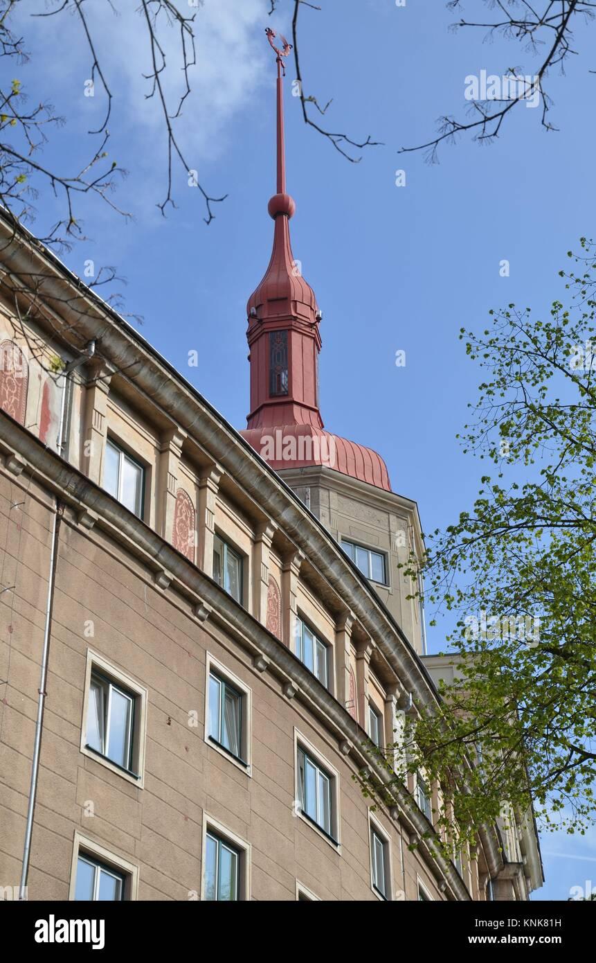 A Socialist town: Ostrava-Poruba in the Czech Republic - Stock Image