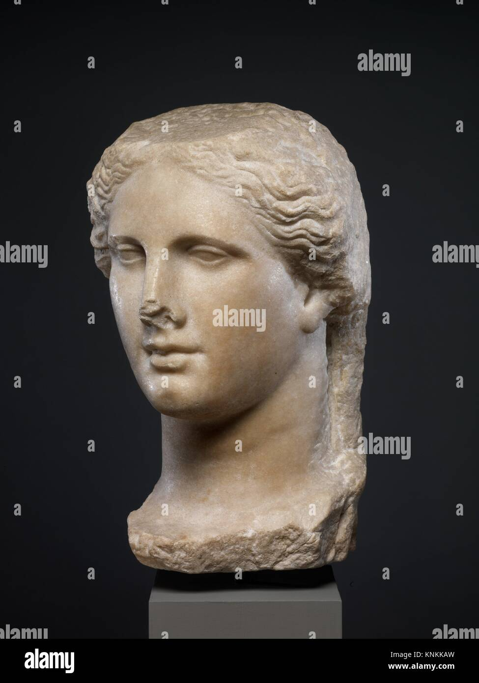 Marble head of a Ptolemaic queen. Period: Hellenistic; Date: ca. 270-250 B.C; Culture: Greek; Medium: Marble; Dimensions: - Stock Image