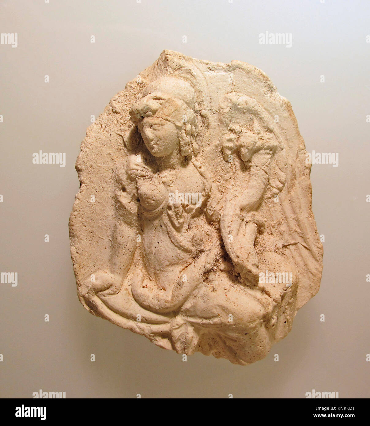 Plaster cast of a metal emblema of Isis-Tyche. Period: Ptolemaic; Date: 2nd half of the 3rd century - 2nd century - Stock Image