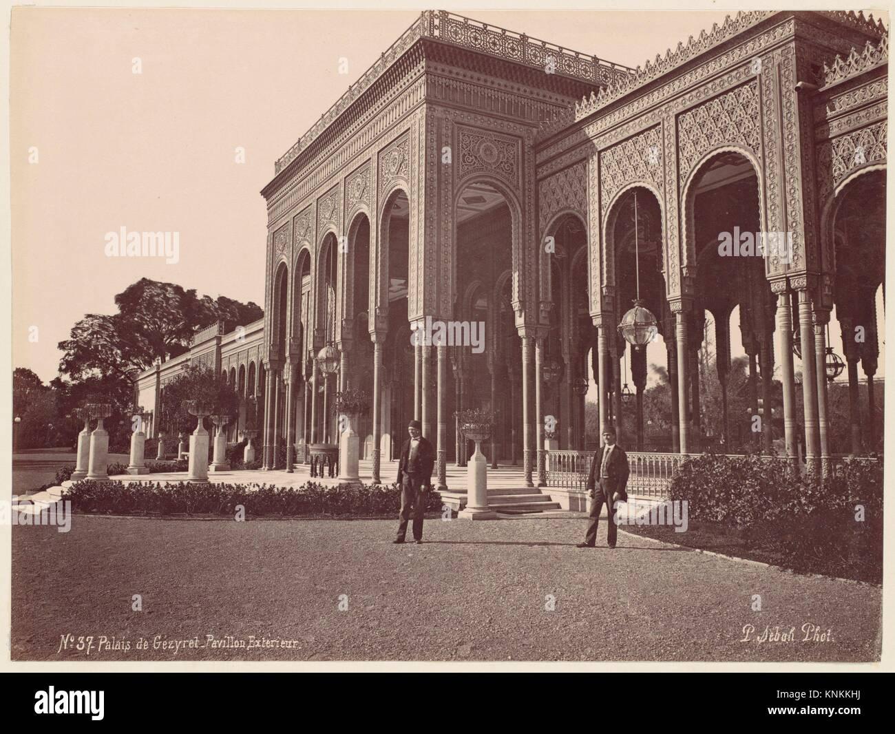 Palais de Gézyret, Pavillon Exterieur. Artist: J. Pascal Sébah (Turkish); Date: 1870s; Medium: Albumen - Stock Image