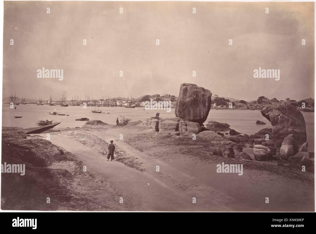 Amoy Harbour. Artist: John Thomson (British, Edinburgh, Scotland 1837-1921 London); Date: ca. 1869; Medium: Albumen - Stock Image