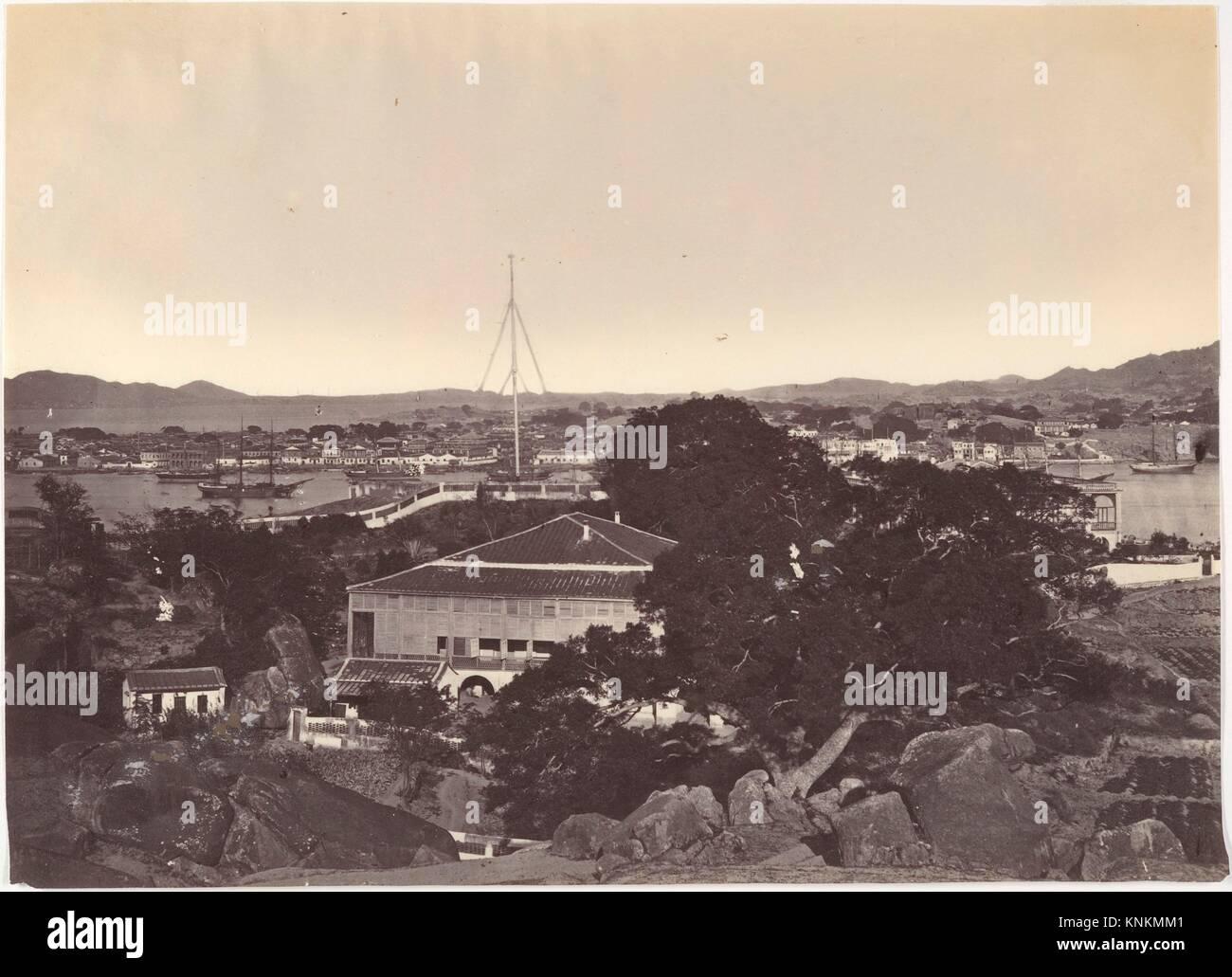 View of Amoy. Artist: Attributed to John Thomson (British, Edinburgh, Scotland 1837-1921 London); Date: ca. 1869; - Stock Image