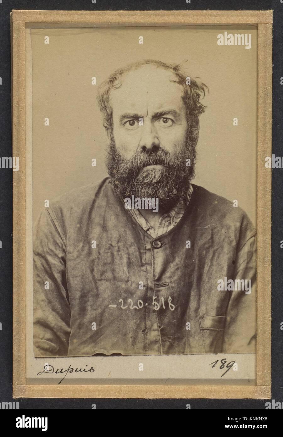 Dupuis. Augustin. 53 ans, né le 24/6/41 à Dourdan (Seine & Oise). Charron, forgeron. Anarchiste. 3/7/94. Artist: Stock Photo