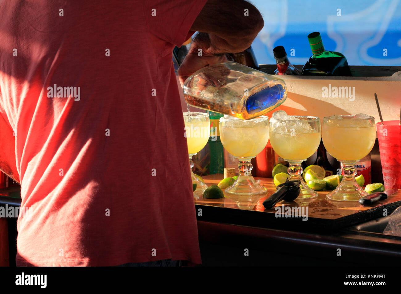 mixing margaritas - Stock Image
