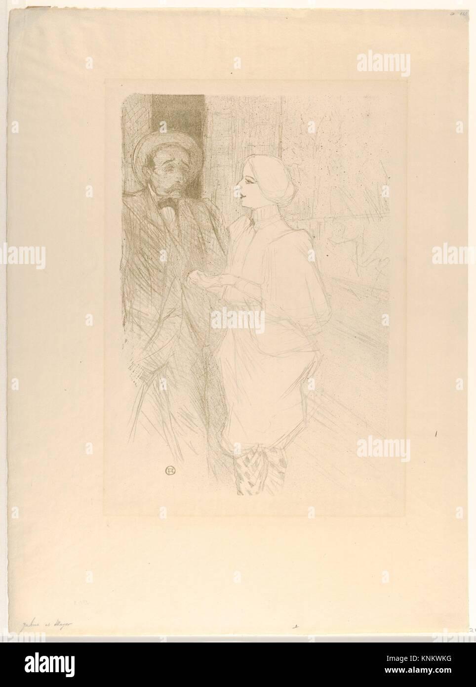 Léonie Yahne and Henry Mayer, in L'Age Difficile. Artist: Henri de Toulouse-Lautrec (French, Albi 1864 - Stock Image