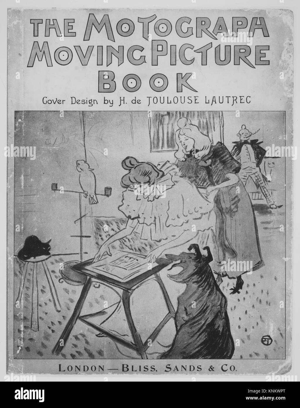 The Motograph Moving Picture Book. Designer: Cover by Henri de Toulouse-Lautrec (French, Albi 1864-1901 Saint-André - Stock Image