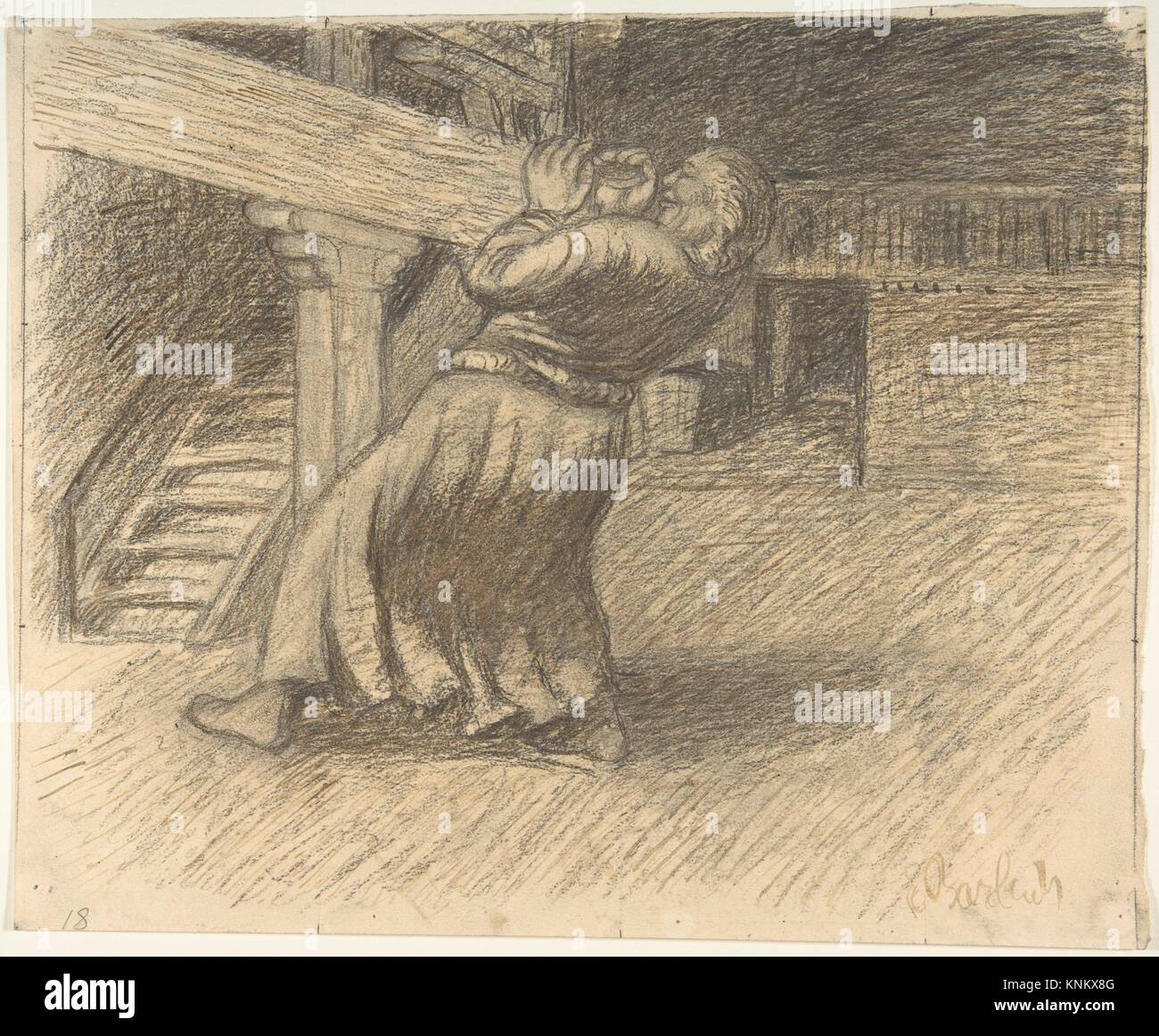 The Invisible. Artist: Ernst Barlach (German, Wedel 1870-1938 Rostock); Date: late 19th-mid-20th century; Medium: - Stock Image