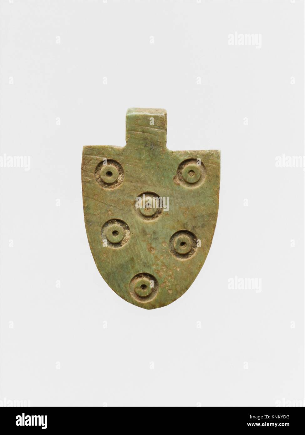 Bone attachment. Period: Late Antique or Byzantine; Date: 4th century A.D. or later; Culture: Roman or Byzantine; - Stock Image