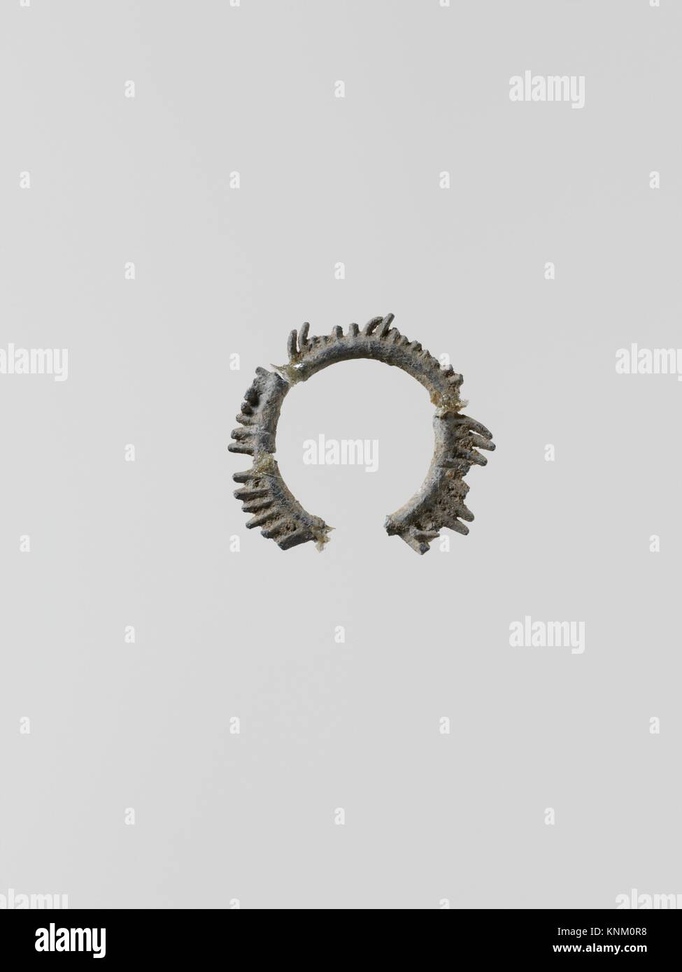 Wreaths, 11. Culture: Greek, Laconian; Medium: Lead; Dimensions: 4 fragments; Classification: Miscellaneous-Lead; Stock Photo