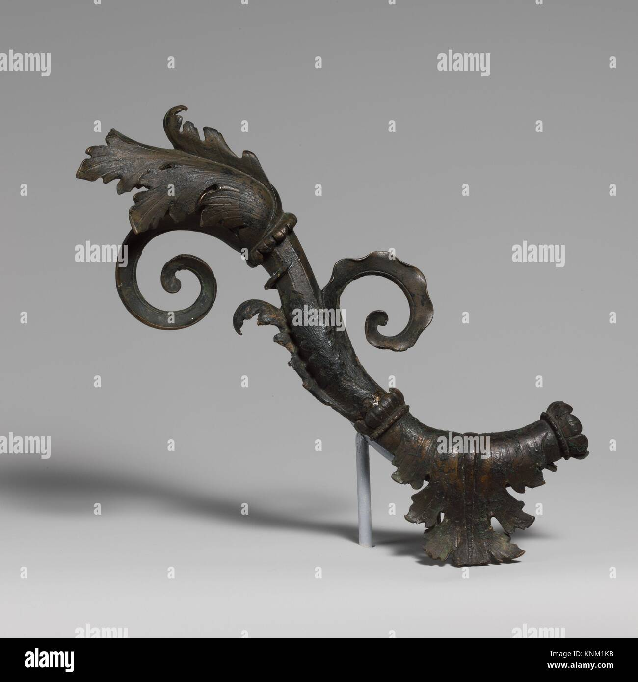 Bronze furniture attachment. Period: Early Imperial, Augustan; Date: late 1st century B.C.-early 1st century A.D; - Stock Image