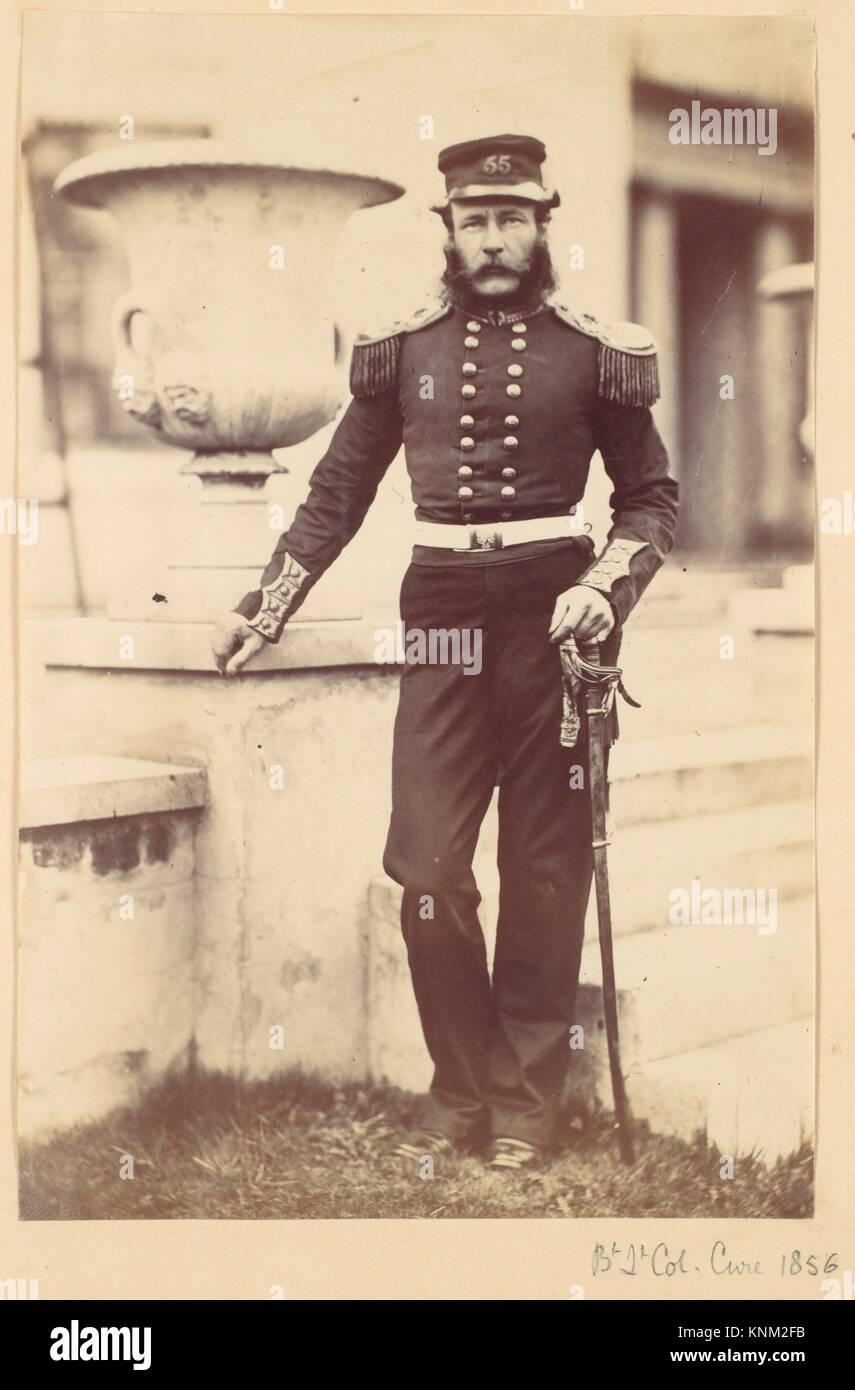 Brevet Lieutenant Colonel Cure. Artist: Alfred Capel Cure (British, 1826-1896); Date: 1856; Medium: Albumen silver - Stock Image