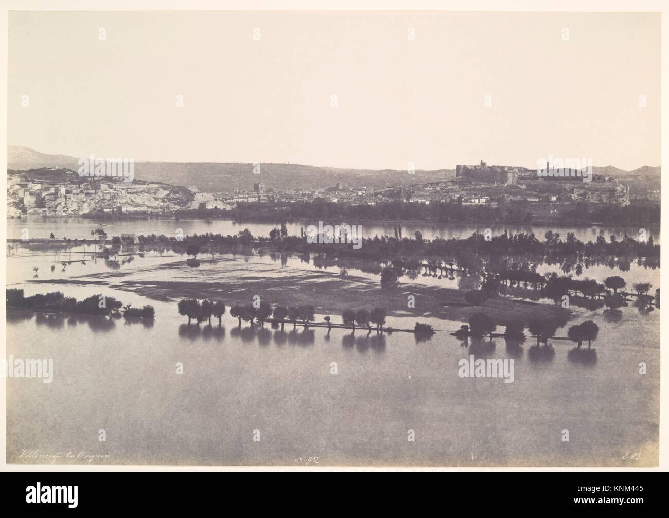The Floods of 1856, Avignon. Artist: Édouard Baldus (French, born Prussia, 1813-1889); Date: 1856; Medium: - Stock Image