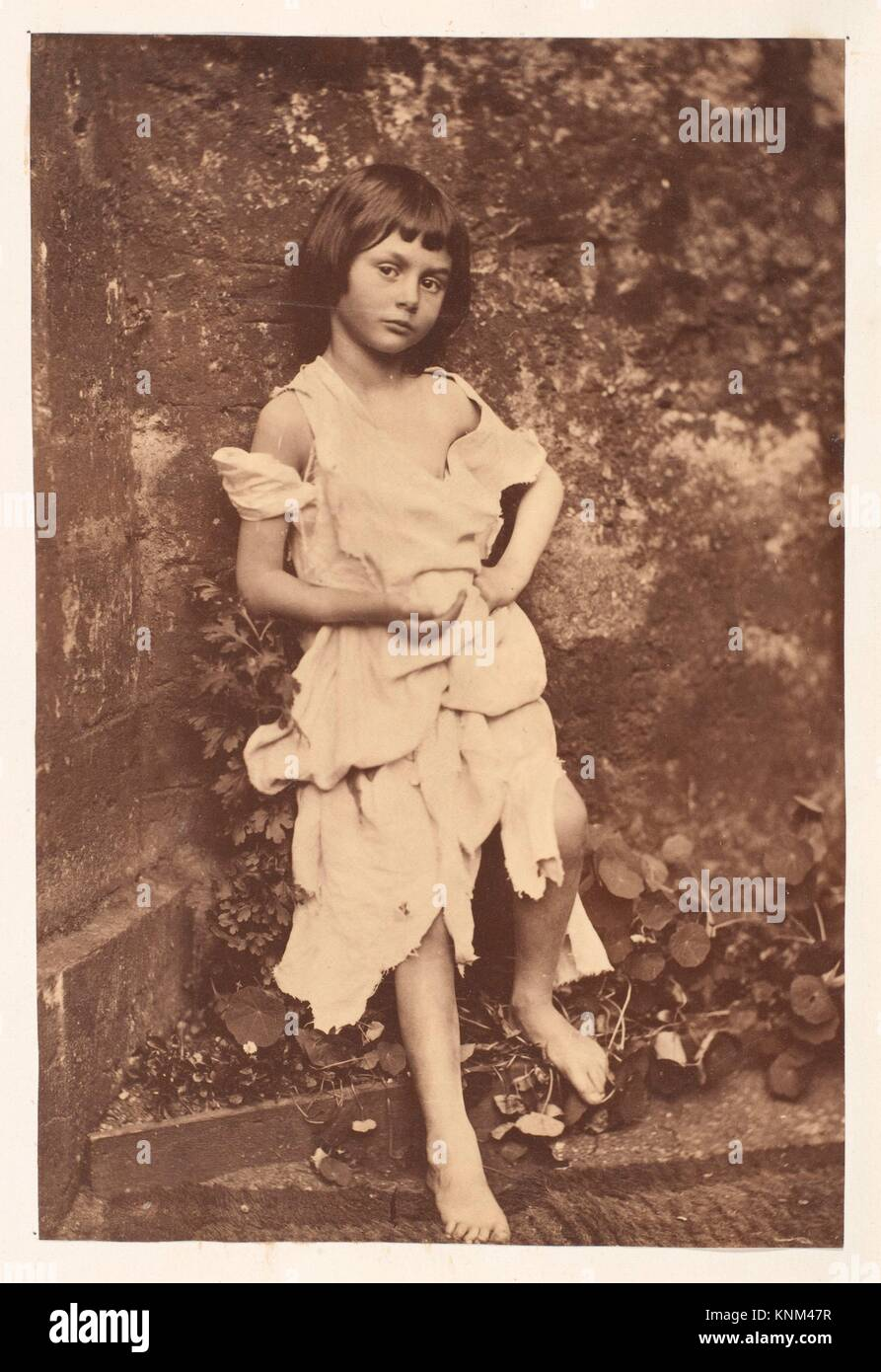 Alice Liddell as The Beggar Maid. Artist: Lewis Carroll (British, Daresbury, Cheshire 1832-1898 Guildford); Subject: - Stock Image