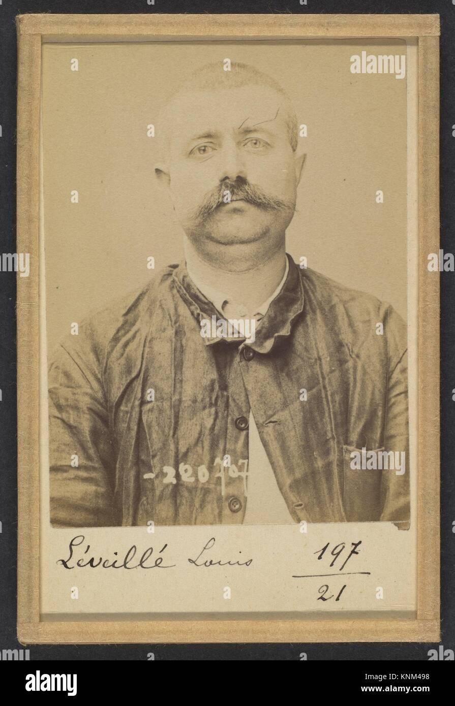 Leveillé. Louis. 37 ans, né le 7/7/57 à Cliche (Seine). Forgeron. Anarchiste. 7/7/94. Artist: Alphonse - Stock Image