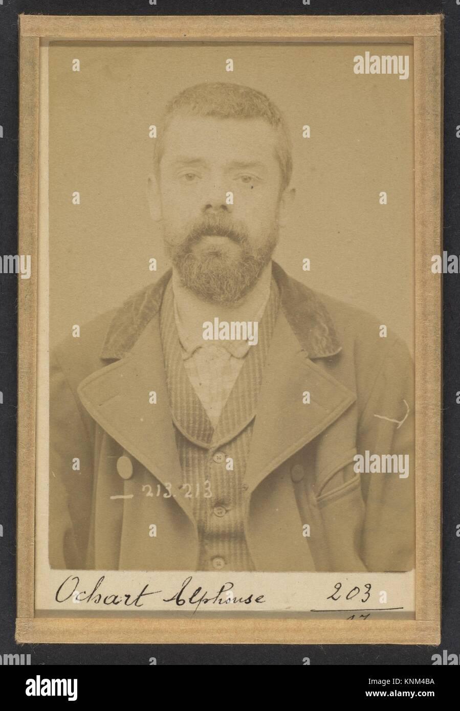 309. Ochart. Alphonse. 37 ans, né le 24/1/56 à Asbruch (Nord). Fabricant de chaussures. Anarchiste. 22/1/94. - Stock Image