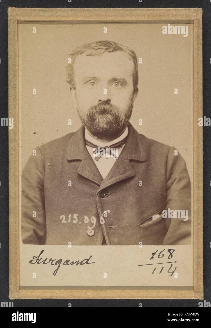 Surgand. Alphonse. 21 ans, né à Lyon. Réparateur de chaussures. Anarchiste. 4/3/94. Artist: Alphonse - Stock Image