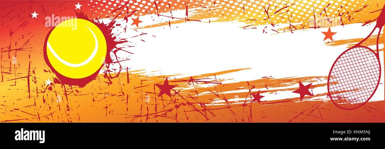 Horizontal Tennis Banner Vector Illustration Stock Vector Image Art Alamy