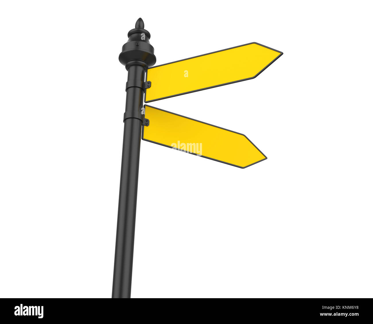 Blank Street Sign Isolated - Stock Image