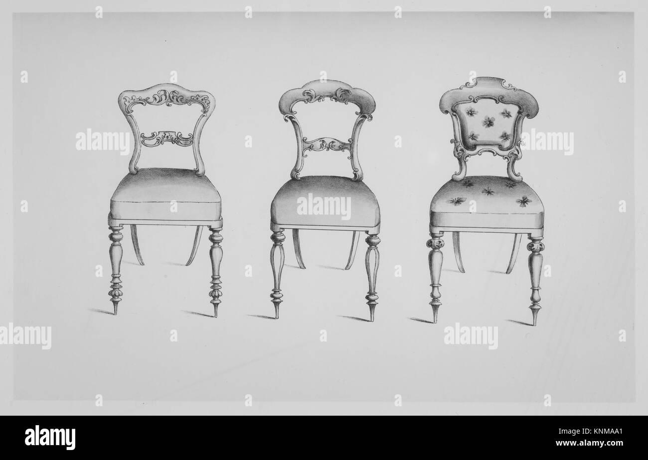 Specimens Of Furniture In The Elizabethan U0026 Louis Quatorze Styles. Adapted  For Modern Imitation. Designer: Thomas King (British, Active 1820 50);