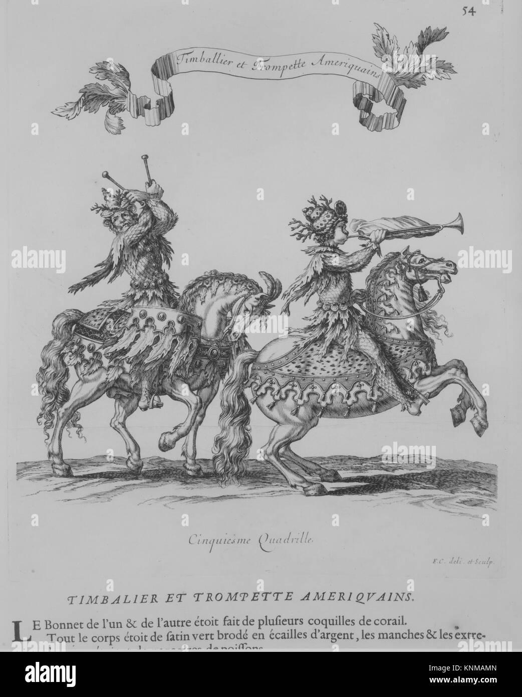 Courses de Testes et de Bagues Faittes par Roy et par les Princes et Seigneurs de sa Cour, en l'année 1662. - Stock Image