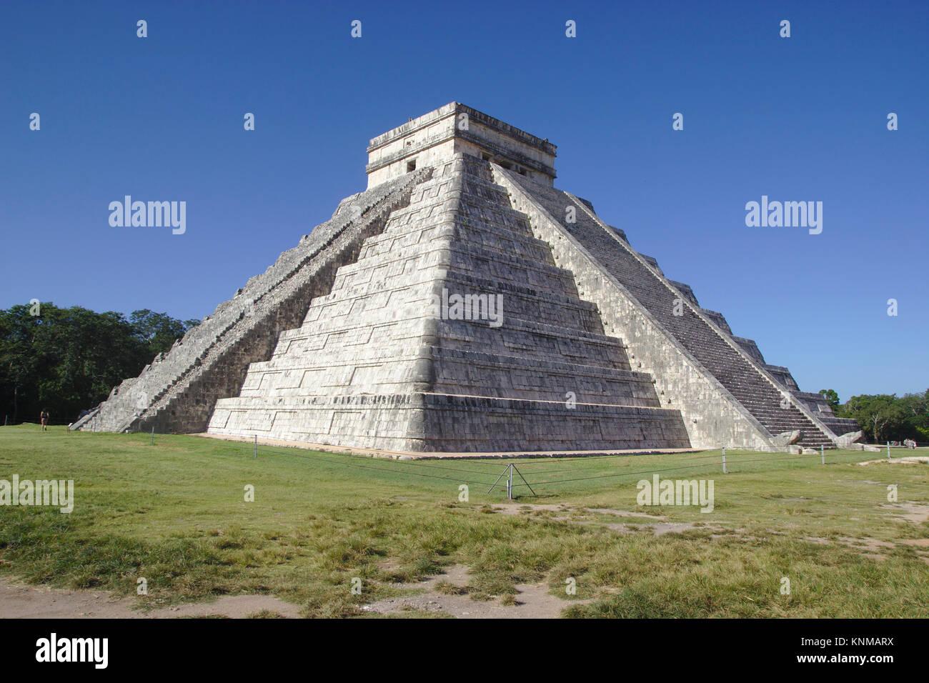 Chichén Itzá, pyramid El Castillo, Mexico - Stock Image