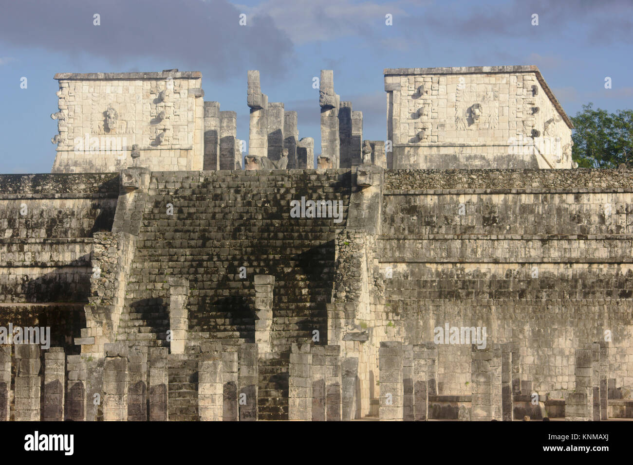 Chichén Itzá, Temple. of the Warriors, Mexico Stock Photo
