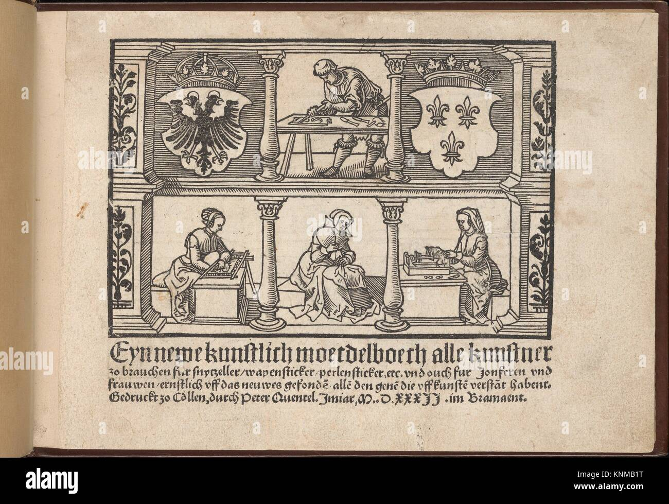 Eyn Newe kunstlich moetdelboech alle kunst. Publisher: Peter Quentel (German, active Cologne, 1518-46) , Cologne; - Stock Image