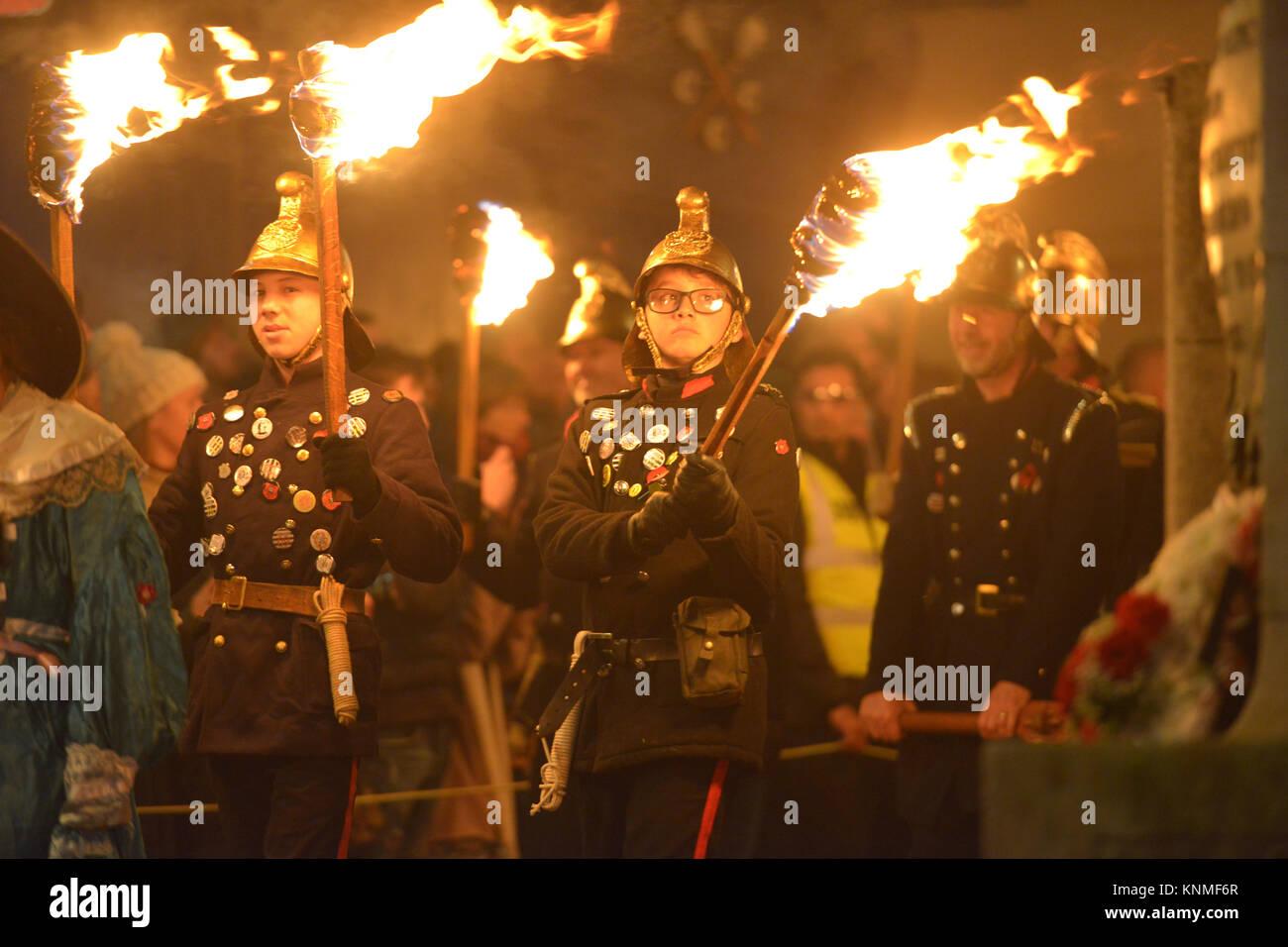 Lewes bonfire celebrations, 4th November 2017 - Stock Image