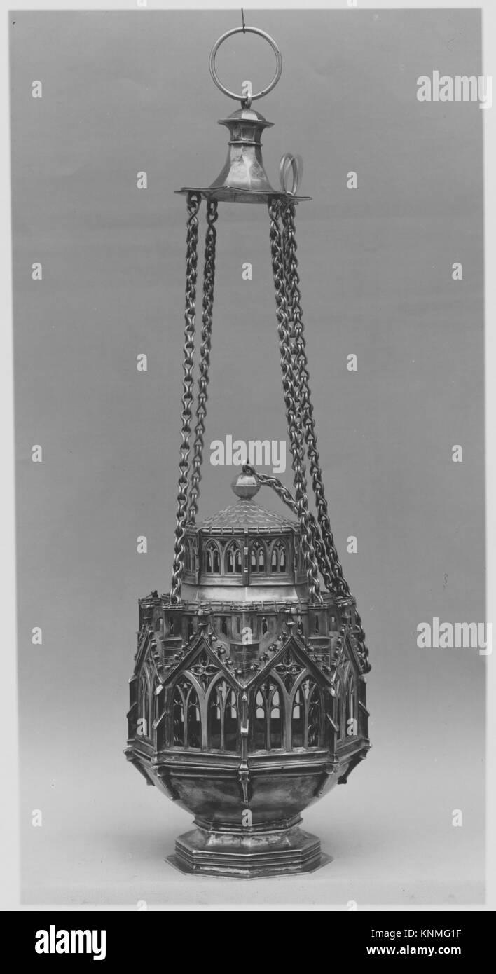 Censer MET 38612 464338 Swiss or German, Censer, before 1842, Silver, Overall: 31 7/8 x 5 3/4 in. (81 x 14.6 cm) - Stock Image
