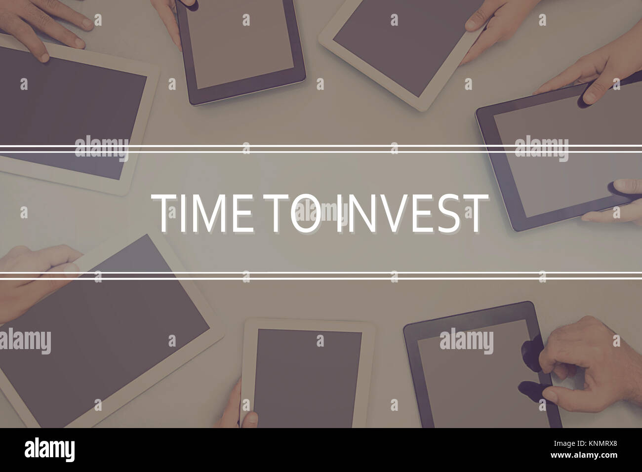 TIME TO INVEST CONCEPT Business Concept. - Stock Image