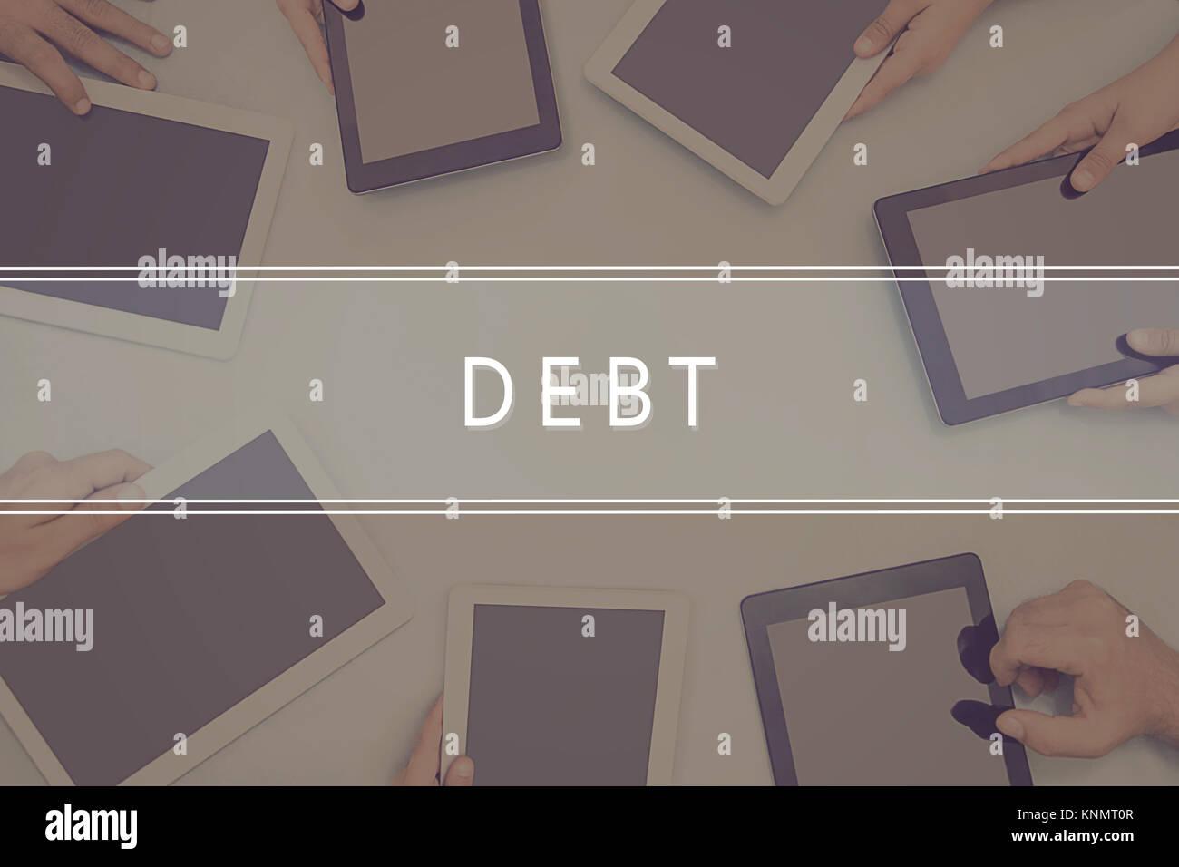 DEBT CONCEPT Business Concept. - Stock Image